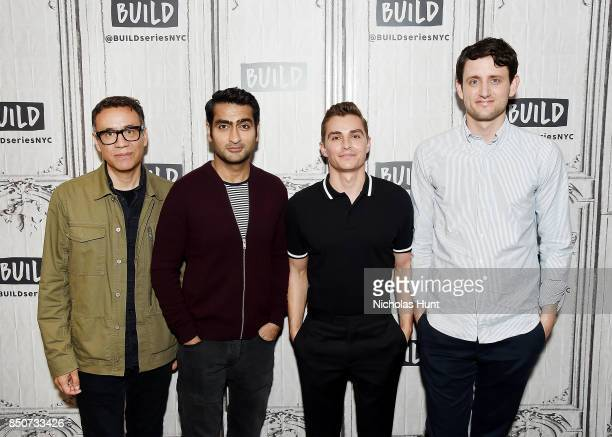 Fred Armisen Kumail Nanjiani Dave Franco and Zach Woods visit the Build Series to discuss the animated film 'The LEGO Ninjago Movie' at Build Studio...