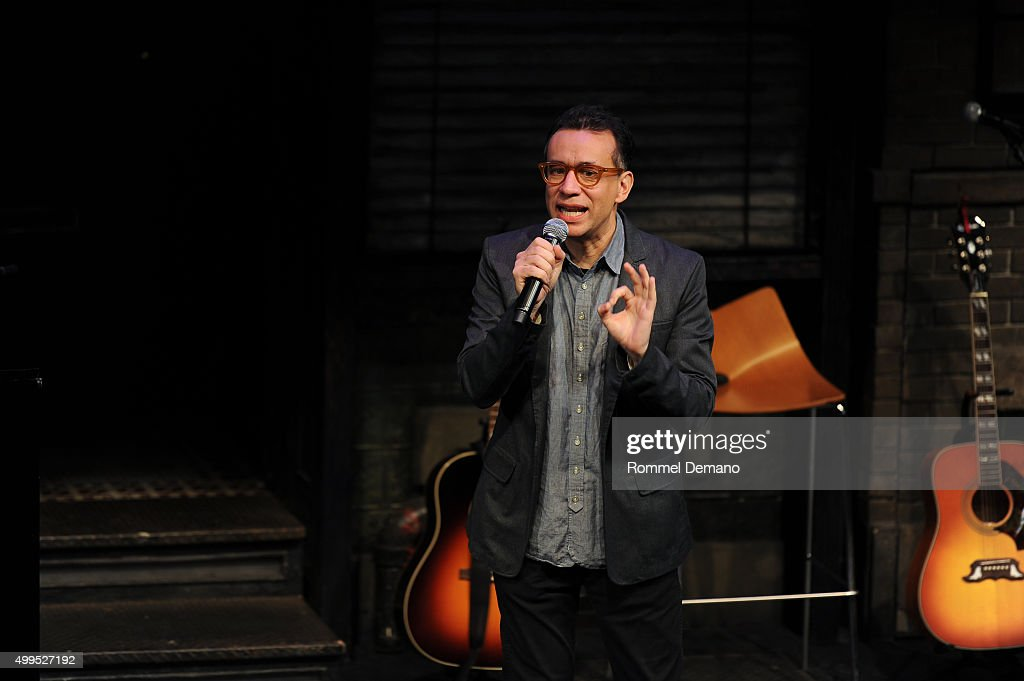 Fred Armisen performs at The Ally Coalition Above Average's 2015 Talent Show at New World Stages on December 1 2015 in New York City