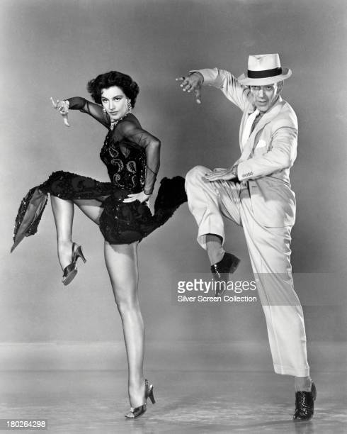 Fred Astaire and Cyd Charisse dancing in a publicity still for 'The Band Wagon' directed by Vincente Minnelli 1953