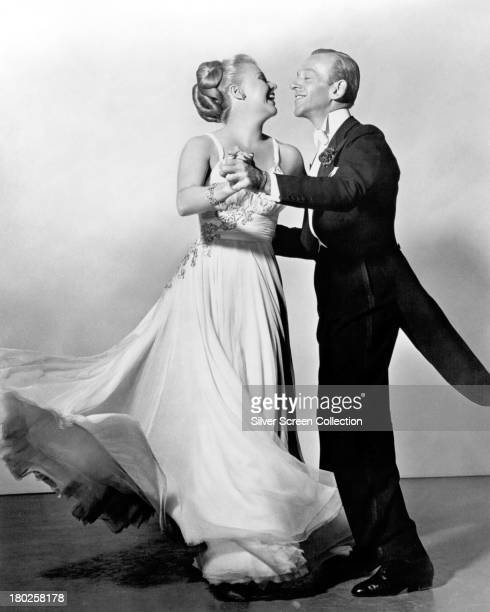 Fred Astaire and Ginger Rogers dancing in a promotional still for 'The Barkleys of Broadway' directed by Charles Walters 1949
