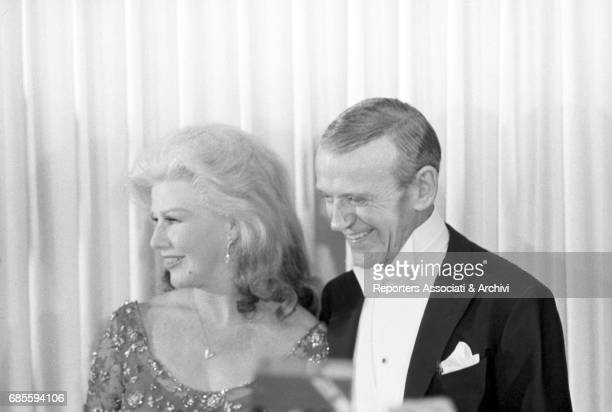 Fred Astaire and Ginger Rogers iconic dance partners attending the Academy Awards ceremony Santa Monica California April 10 1967