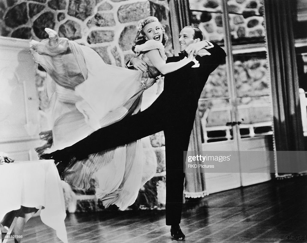 <a gi-track='captionPersonalityLinkClicked' href=/galleries/search?phrase=Fred+Astaire&family=editorial&specificpeople=70031 ng-click='$event.stopPropagation()'>Fred Astaire</a> (1899 - 1987) and <a gi-track='captionPersonalityLinkClicked' href=/galleries/search?phrase=Ginger+Rogers&family=editorial&specificpeople=93466 ng-click='$event.stopPropagation()'>Ginger Rogers</a> (1911 - 1995) in a dance scene from the musical film 'Carefree', directed by Mark Sandrich, 1938.