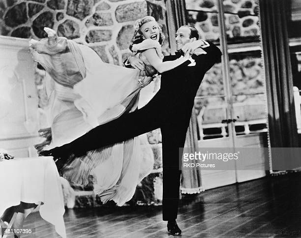 Fred Astaire and Ginger Rogers in a dance scene from the musical film 'Carefree' directed by Mark Sandrich 1938