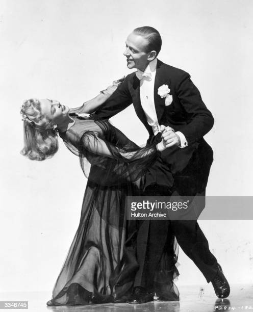 Fred Astaire and Marjorie Reynolds dance together in a scene from Paramount's 'Holiday Inn'