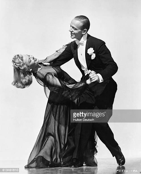 Fred Astaire and Marjorie Reynolds perform a dance from the film Holiday Inn It was Marjorie's ambition to dance with Fred Astaire