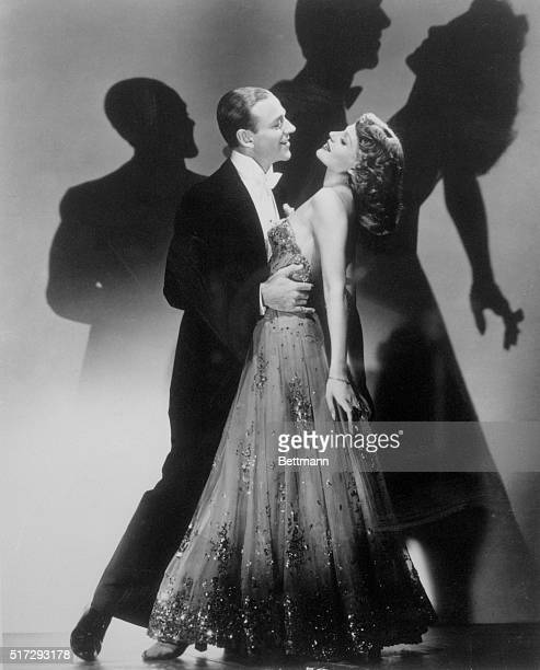 Fred Astaire and Rita Hayworth in a romantic dance scene from the 1942 Columbia Pictures film You Were Never Lovelier