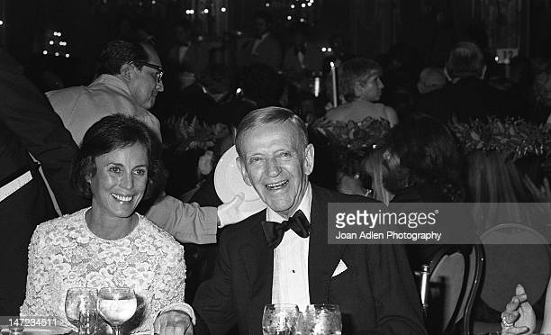 Fred Astaire and wife Robyn Smith at American Film Institute Awards Show on April 10 1981 at the Beverly Hills Hotel in Beverly Hills California