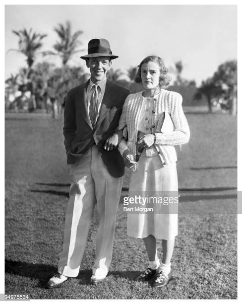 Fred Astaire famed dancer singer and actor seen here with his wife Phyllis the former Phyllis Potter at the AmateurOro Golf Tournament at the...