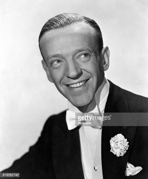Fred Astaire in a tuxedo with a carnation on the lapel in a publicity still for Irving Berlin's 1946 film Blue Skies