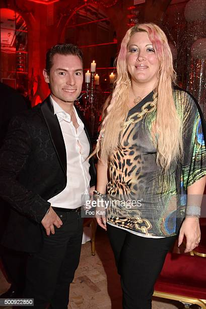 Fred Cauvin and Loana Petrucciani attend the 'The Bests 2015' Awards Ceremony At Salons Hoche on December 10 2015 in Paris France
