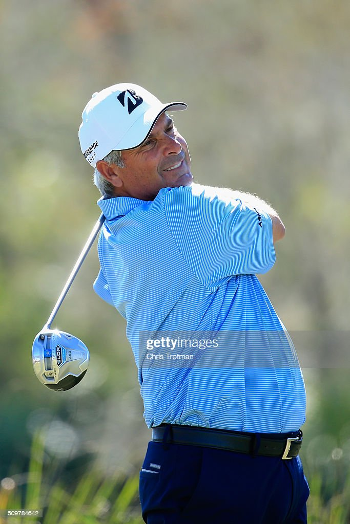 <a gi-track='captionPersonalityLinkClicked' href=/galleries/search?phrase=Fred+Couples&family=editorial&specificpeople=203076 ng-click='$event.stopPropagation()'>Fred Couples</a> hits a tee shot on the 18th hole during the first round of the 2016 Chubb Classic at the TwinEagles Club on February 12, 2016 in Naples, Florida.