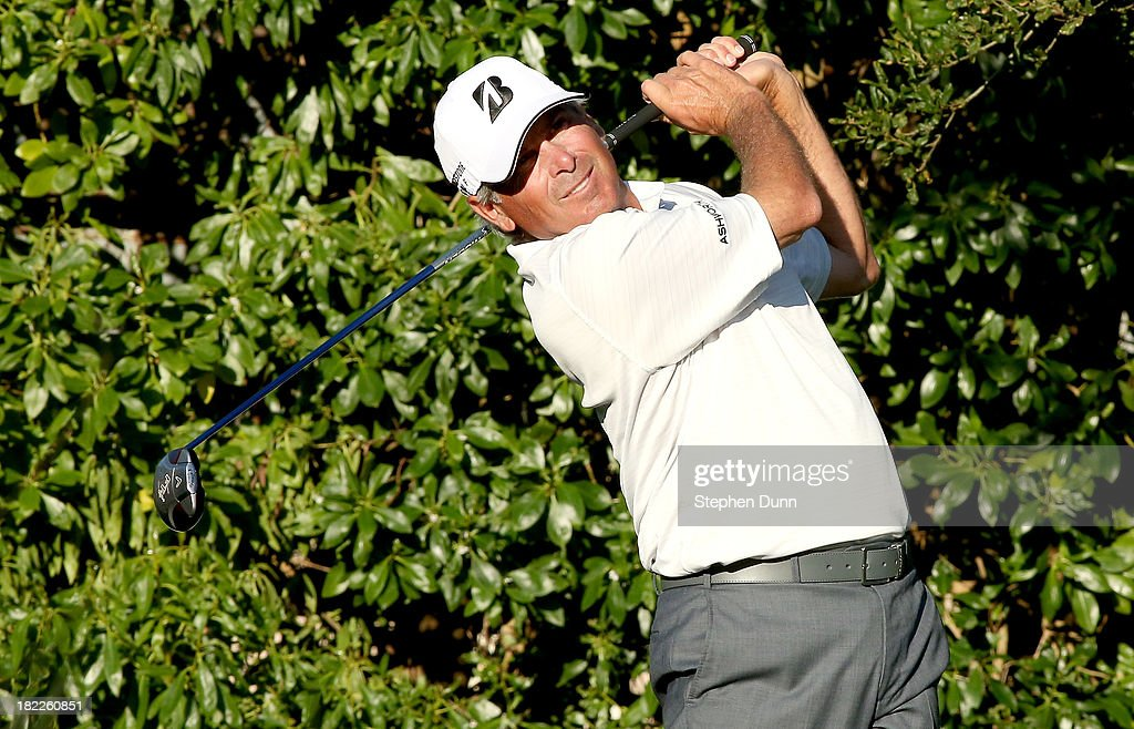 <a gi-track='captionPersonalityLinkClicked' href=/galleries/search?phrase=Fred+Couples&family=editorial&specificpeople=203076 ng-click='$event.stopPropagation()'>Fred Couples</a> hits his tee shot on the 16th hole durng the second round of the Nature Valley First Tee Open at Pebble Beach at Pebble Beach Golf Links on September 28, 2013 in Pebble Beach, California.
