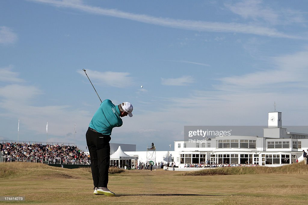 <a gi-track='captionPersonalityLinkClicked' href=/galleries/search?phrase=Fred+Couples&family=editorial&specificpeople=203076 ng-click='$event.stopPropagation()'>Fred Couples</a> of the United States in action during the first round of The Senior Open Championship played at Royal Birkdale Golf Club on July 25, 2013 in Southport, United Kingdom.
