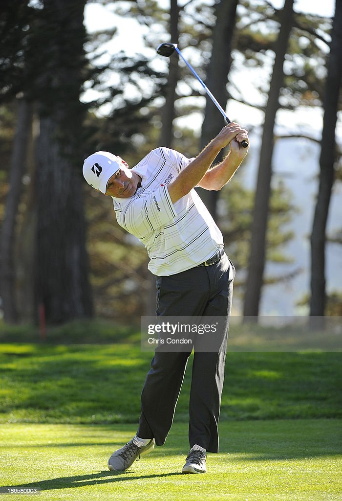 <a gi-track='captionPersonalityLinkClicked' href=/galleries/search?phrase=Fred+Couples&family=editorial&specificpeople=203076 ng-click='$event.stopPropagation()'>Fred Couples</a> tees off on the 15th hole during the second round of the Charles Schwab Cup Championship at TPC Harding Park on November 1, 2013 in San Francisco, California.