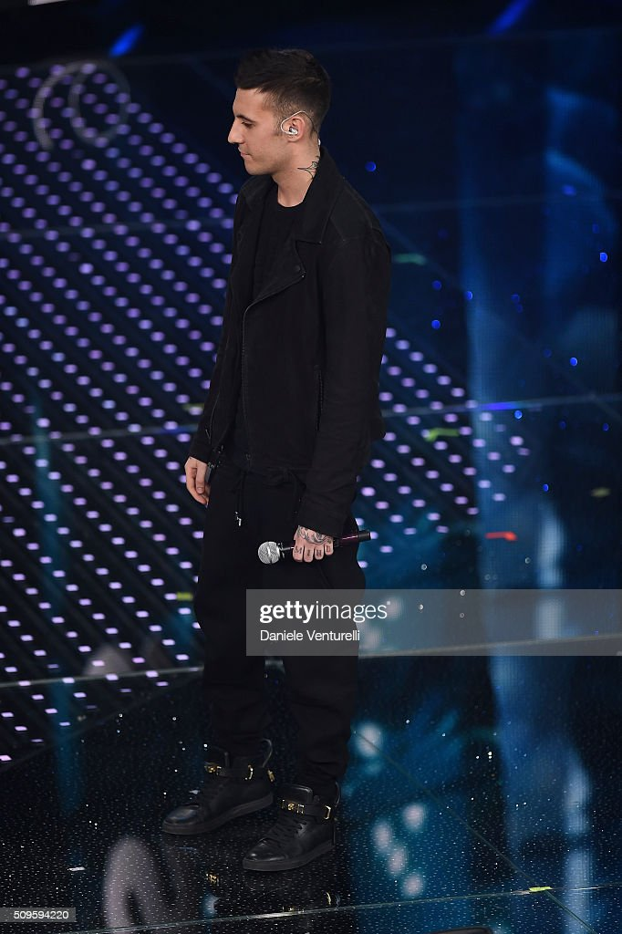 Fred De Palma attends the third night of the 66th Festival di Sanremo 2016 at Teatro Ariston on February 11, 2016 in Sanremo, Italy.