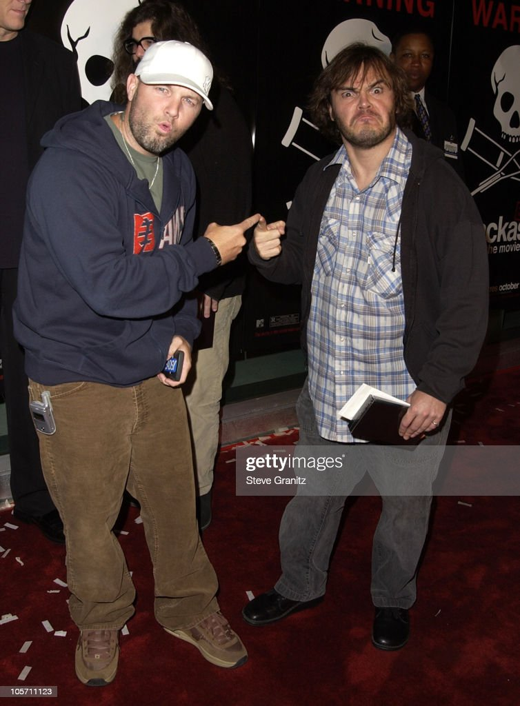 Fred Durst & Jack Black during 'Jackass: The Movie' Premiere at Cinerama Dome in Hollywood, California, United States.