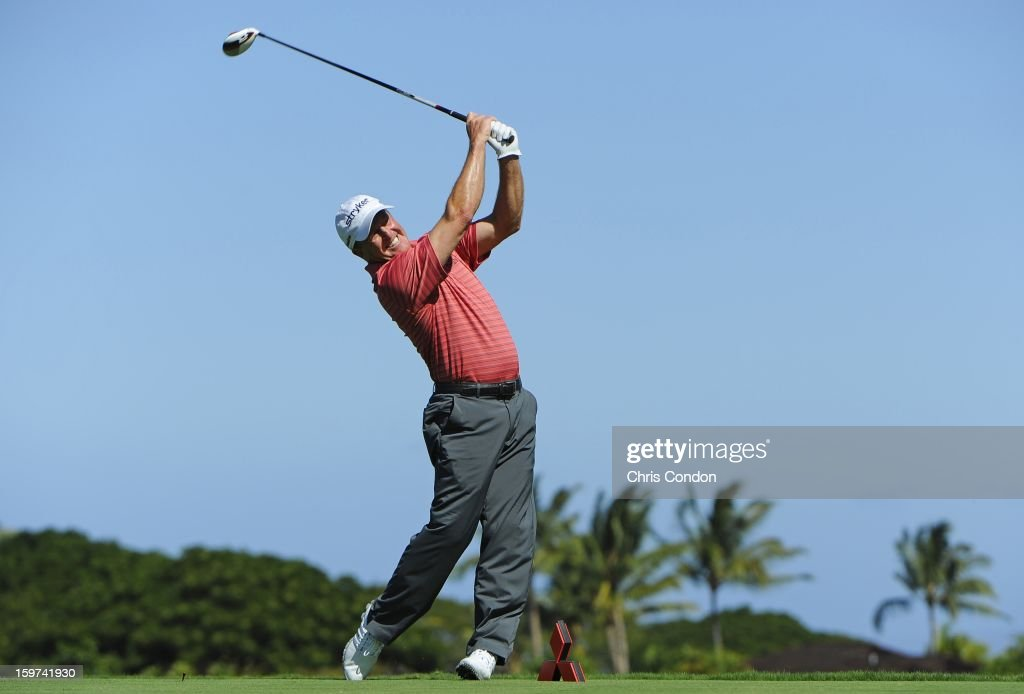 <a gi-track='captionPersonalityLinkClicked' href=/galleries/search?phrase=Fred+Funk&family=editorial&specificpeople=206374 ng-click='$event.stopPropagation()'>Fred Funk</a> plays from the second tee during the second round of the Mitsubishi Electric Championship at Hualalai Golf Club on January 19, 2013 in Ka'upulehu-Kona, Hawaii.