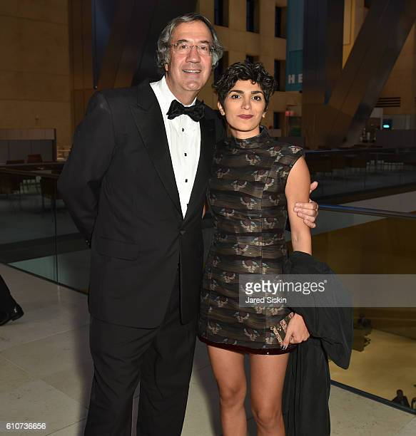 Fred Giuffrida and Golnaz Esmaili attend Abstracted Black Tie Dinner Hosted by Pamela Joyner Fred Giuffrida and the Ogden Museum of Southern Art to...