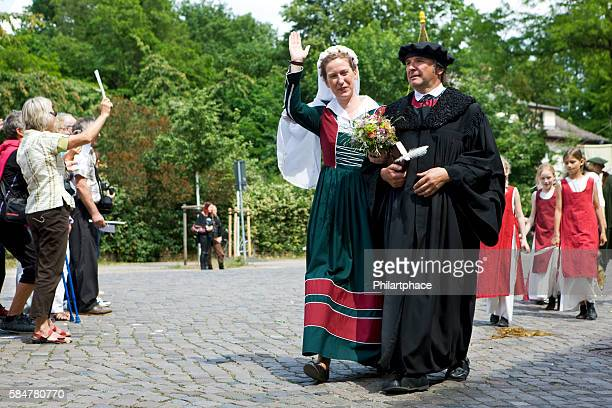 Fred Goede as Martin Luther at Luther's Wedding Wittenberg