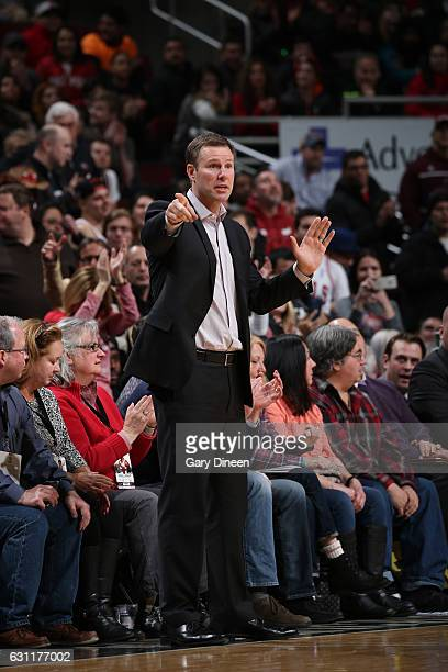 Fred Hoiberg of the Chicago Bulls during the game against the Toronto Raptors on January 7 2017 at the United Center in Chicago Illinois NOTE TO USER...