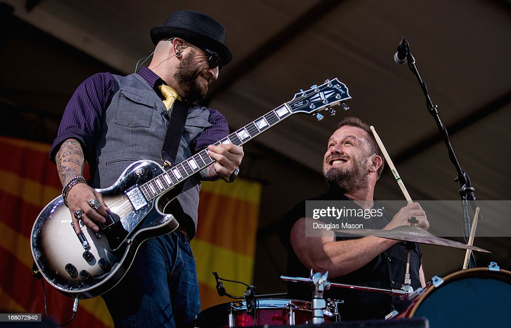 Fred Lablanc of Cowboy Mouth performs during the 2013 New Orleans Jazz & Heritage Music Festival at Fair Grounds Race Course on May 4, 2013 in New Orleans, Louisiana.