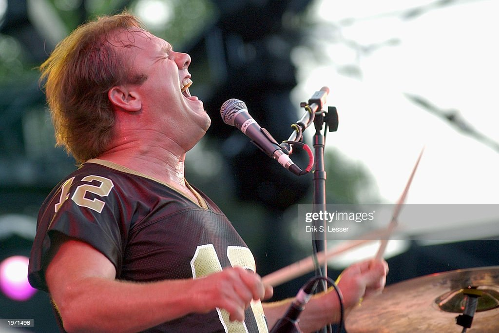 Fred LeBlanc, drummer and singer for the band Cowboy Mouth,performs during the10th Annual Music Midtown festival May 3, 2003 in Atlanta, Georgia. The three-day music festival features a variety of national acts.