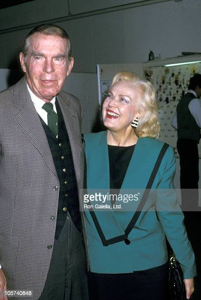 Fred MacMurray and June Haver during Fred MacMurray and June Haver at Jimmy's Restaurant March 15 1987 at Jimmy's Restaurant in Los Angeles...