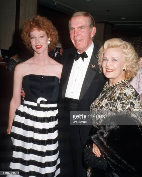 Fred MacMurray June Haver and Daughter during Heritage Museum Gala February 21 1987 at Century Plaza Hotel in Century City California United States