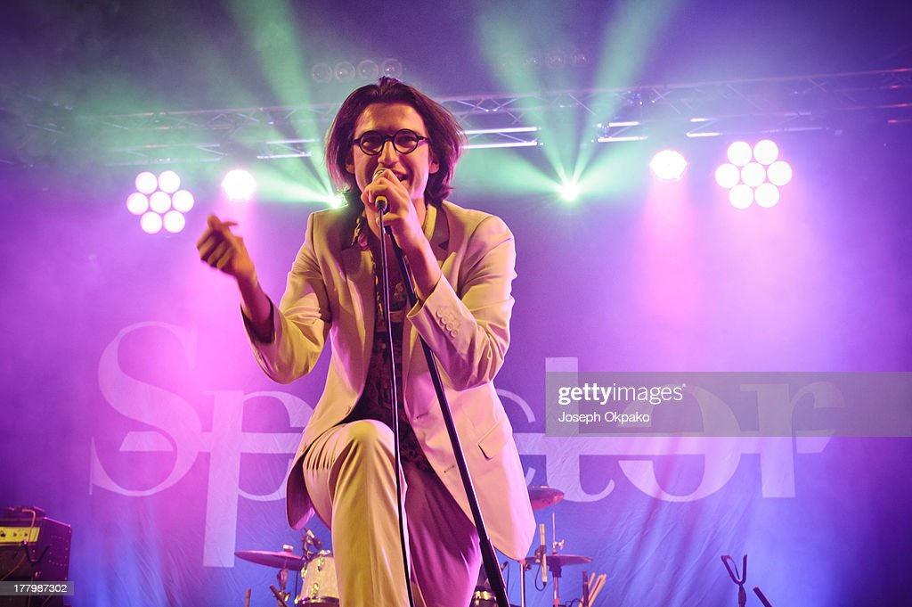 Fred Macpherson of Spector performs on stage on Day 3 of Reading Festival 2013 at Richfield Avenue on August 25, 2013 in Reading, England.