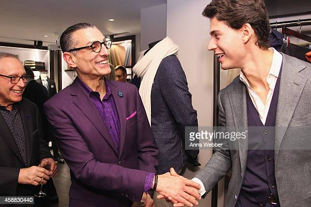 Fred Nazam Salvatore Critella and Roberto Trincati attend DuJour magazine's premier opening event Tincati Milano Concept Store on November 11 2014 in...
