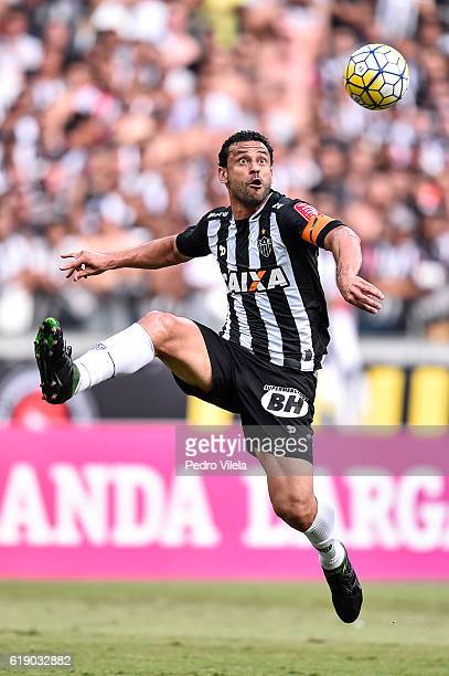 Fred of Atletico MG during a match between Atletico MG and Flamengo as part of Brasileirao Series A 2016 at Mineirao stadium on October 29 2016 in...