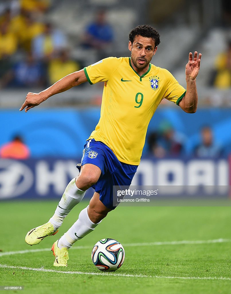 Fred of Brazil in action during the 2014 FIFA World Cup Brazil Semi Final match between Brazil and Germanyat Estadio Mineirao on July 8, 2014 in Belo Horizonte, Brazil.