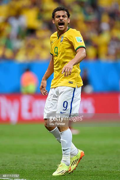 Fred of Brazil looks on during the 2014 FIFA World Cup Brazil Group A match between Cameroon and Brazil at Estadio Nacional on June 23 2014 in...
