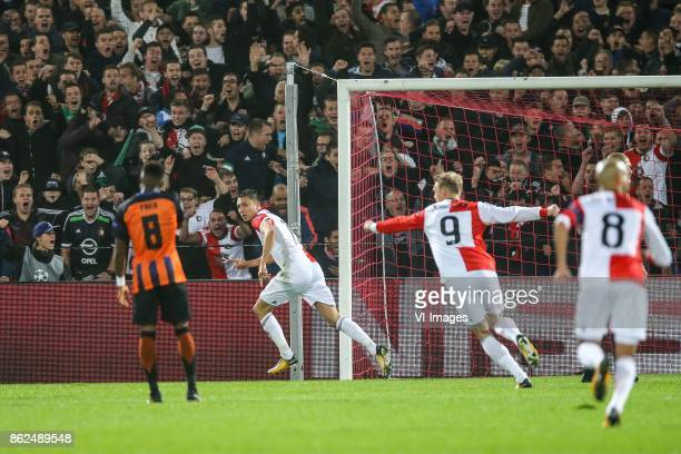 Fred of FC Shakhtar Donetsk Steven Berghuis of Feyenoord Nicolai Jorgensen of Feyenoord Karim El Ahmadi of Feyenoord during the UEFA Champions League...