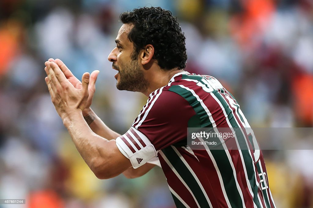 - <a gi-track='captionPersonalityLinkClicked' href=/galleries/search?phrase=Fred+-+Equipe+du+Br%C3%A9sil+et+Fluminense&family=editorial&specificpeople=490870 ng-click='$event.stopPropagation()'>Fred</a> of Fluminense celebrates a scored goal during a match between Fluminense and Atletico PR as part of Brasileirao Series A 2014 at Maracana Stadium on October 25, 2014 in Rio de Janeiro, Brazil.