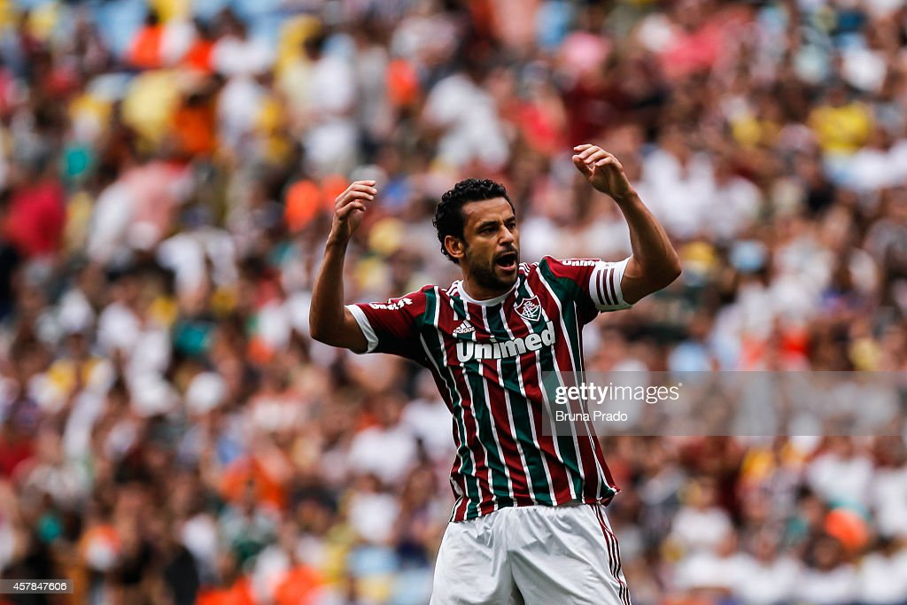 <a gi-track='captionPersonalityLinkClicked' href=/galleries/search?phrase=Fred+-+Fluminense+Football+Club&family=editorial&specificpeople=490870 ng-click='$event.stopPropagation()'>Fred</a> of Fluminense during the Brasileirao Series A 2014 match between Fluminense and Atletico PR at Maracana Stadium on October 25, 2014 in Rio de Janeiro, Brazil.