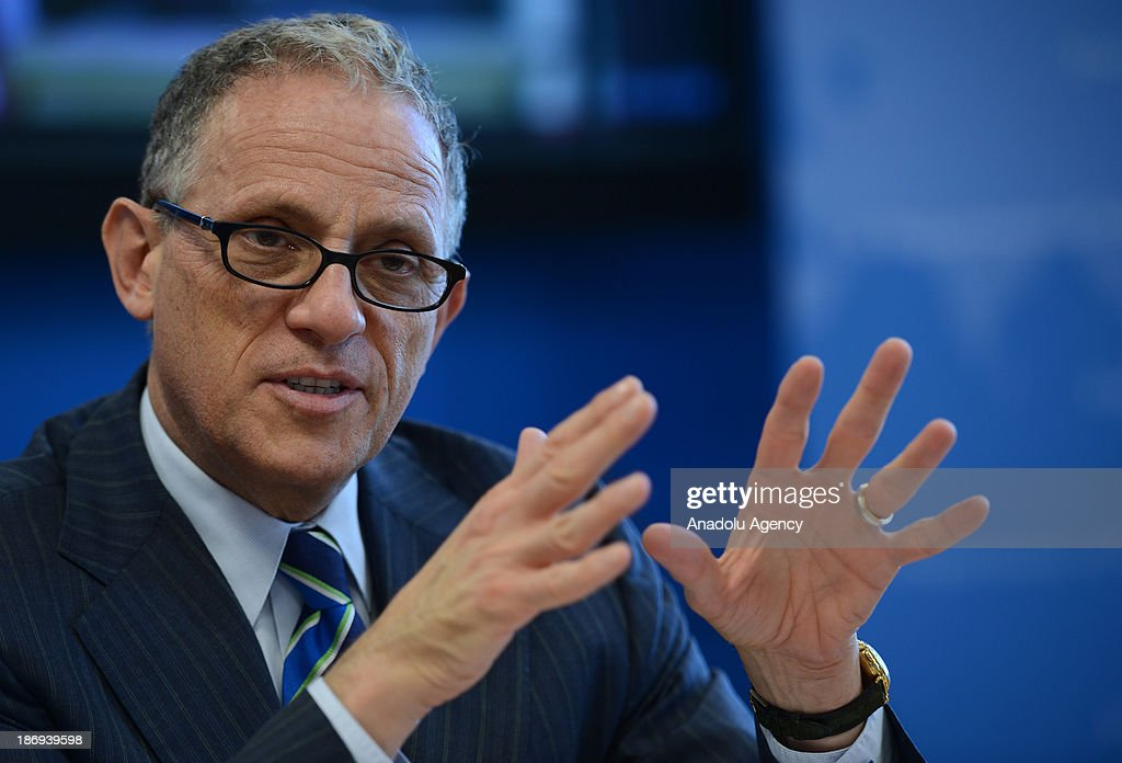 Fred P. Hochberg, Chairman and President of the Export-Import Bank of the United States, speaks during a news conference organized at the media center of the U.S. Department of State on November 4, 2013, New York, United States.