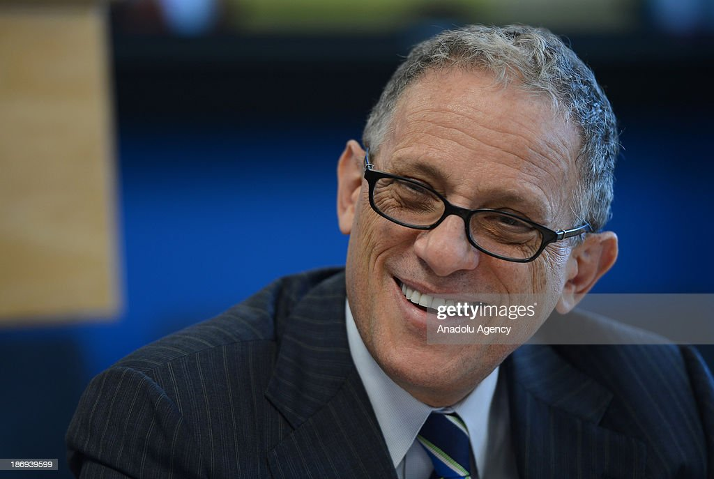 Fred P. Hochberg, Chairman and President of the Export-Import Bank of the United States, smiles during a news conference organized at the media center of the U.S. Department of State on November 4, 2013, New York, United States.