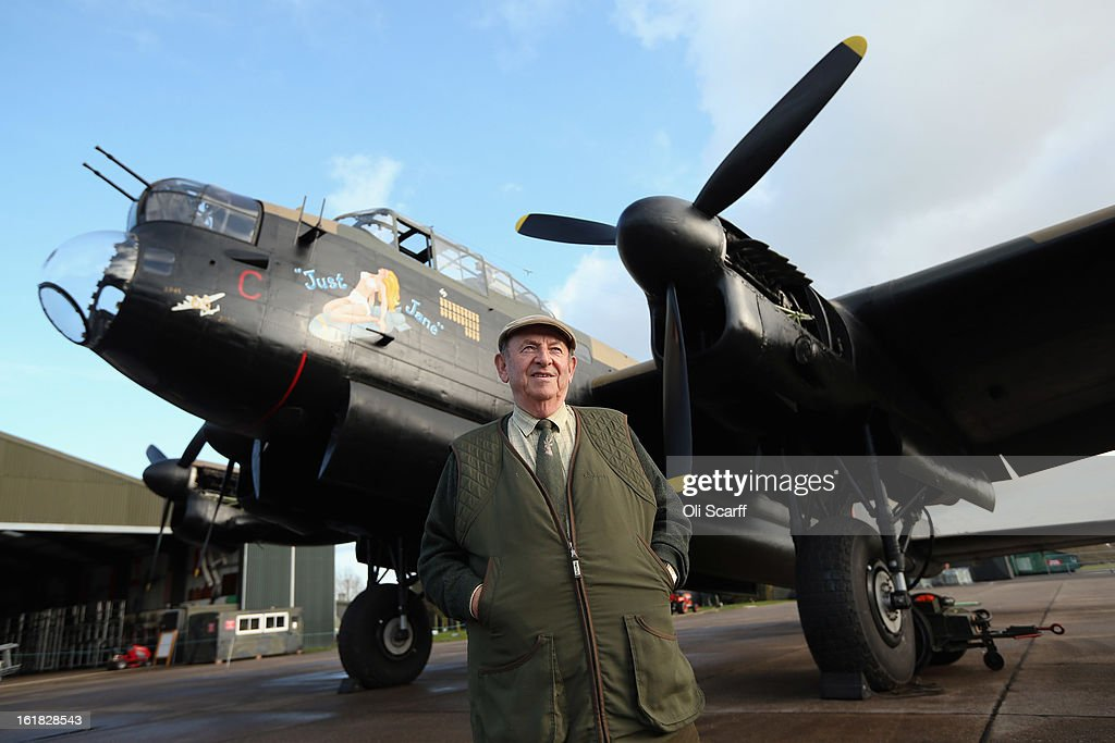 Fred Panton, the owner of the Lincolnshire Aviation Heritage Centre, stands in front of the Lancaster bomber 'Just Jane' which is being restored with the aim of getting it airworthy, on February 14, 2013 in East Kirkby, England. The plane, which last flew in 1971, would become one of only three airworthy Lancaster bombers in the world. Brothers Fred and Harold Panton, owners of the Lincolnshire Aviation Heritage Centre, are restoring the plane in memory of their sibling, Christopher Panton, who died aged 19 when his Lancaster was shot down in 1944.