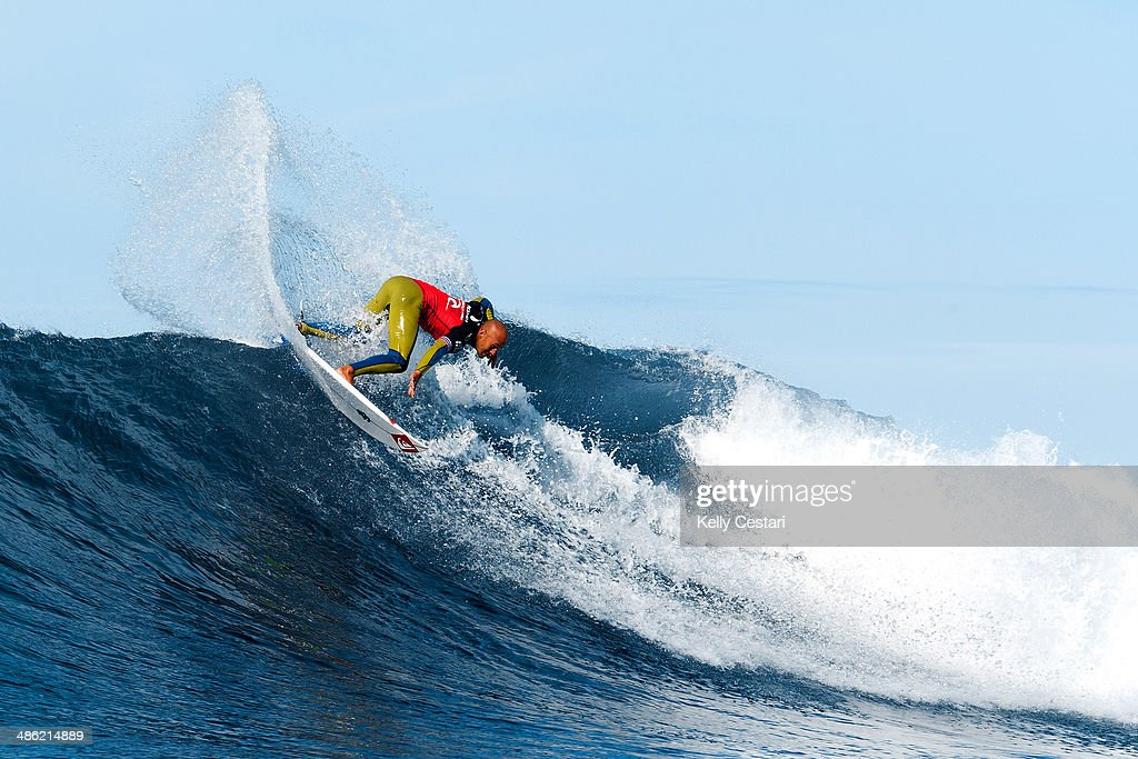 Fred Patacchia of Hawaii placed equal 9th in the Ripcurl Pro Bells Beach after placing second in his quarterfinal heat on April 23, 2014 in Bells Beach, Australia.