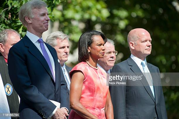 Fred Ryan Chairman of the Board for the Ronald Reagan Presidential Foundation Former Secretary of State Dr Condoleezza Rice British Foreign Secretary...