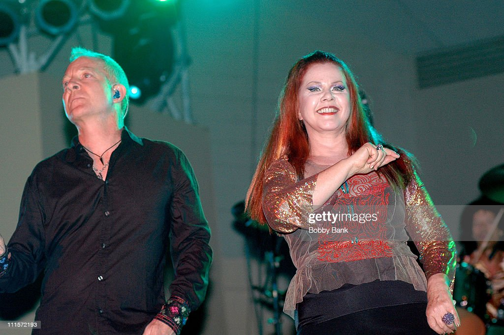 Fred Schneider and Kate Pierson of The B52's during The B52's in Concert During the Seaside Concert Series at Asser Levy Seaside Park August 10 2006...