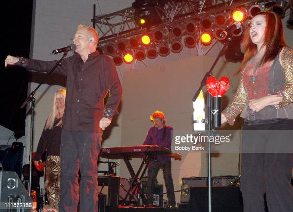 Fred Schneider Kate Pierson of The B52's during The B52's in Concert During the Seaside Concert Series at Asser Levy Seaside Park August 10 2006 at...