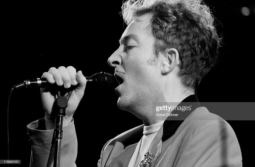 Fred Schneider of the B52's during The B52's in Concert 1990 at Filmore West in New York City New York United States