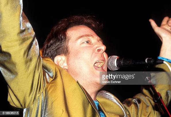 Fred Schneider of the B52's performs at a Campaign rally for Jerry Brown at the Ritz New York March 25 1992