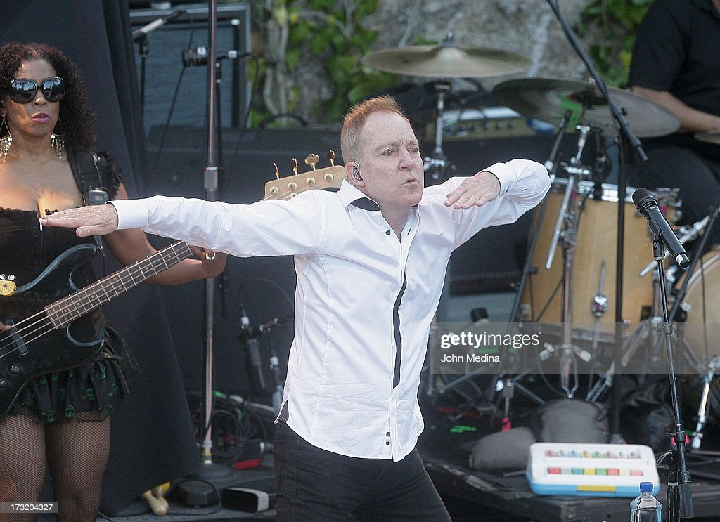 <a gi-track='captionPersonalityLinkClicked' href=/galleries/search?phrase=Fred+Schneider&family=editorial&specificpeople=209116 ng-click='$event.stopPropagation()'>Fred Schneider</a> of the B-52's performs at The Mountain Winery on July 9, 2013 in Saratoga, California.