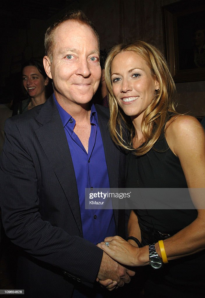 Fred Schneider of the B-52's with Sheryl Crow during Sheryl Crow 'Wildflower' Release Party Co-Hosted by AOL at Private Residence in New York City, New York, United States.