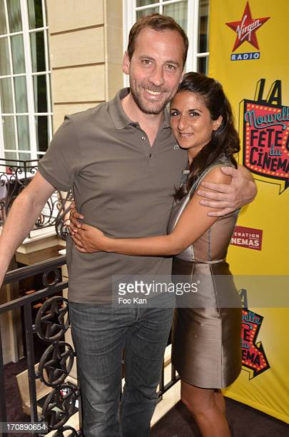 Fred Testot and Geraldine Nakache attend the 'Fete du Cinema 2013' Press Conference at the Hotel Pershing Hall on June 19 2013 in Paris France
