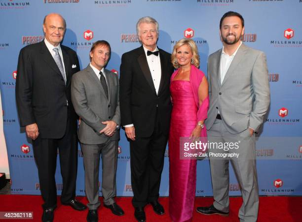 Fred Thompson Brad Stine James R Higgins Gretchen Carlson and Daniel Luko attends 'Persecuted' screening at Lighthouse International Theater on July...