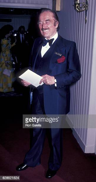 Fred Trump attends 38th Annual Horatio Alger Awards Dinner on May 10 1985 at the Waldorf Hotel in New York City
